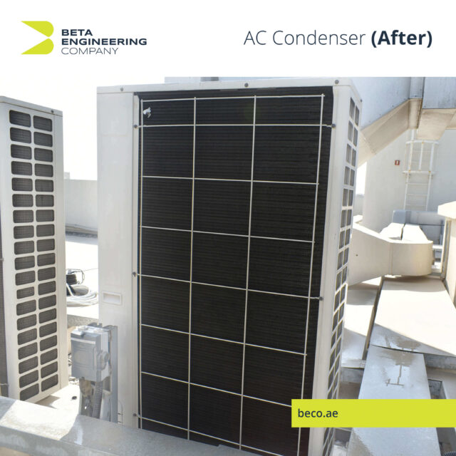 After AC Condenser cleaning