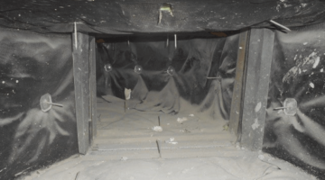 Before AC duct Cleaning
