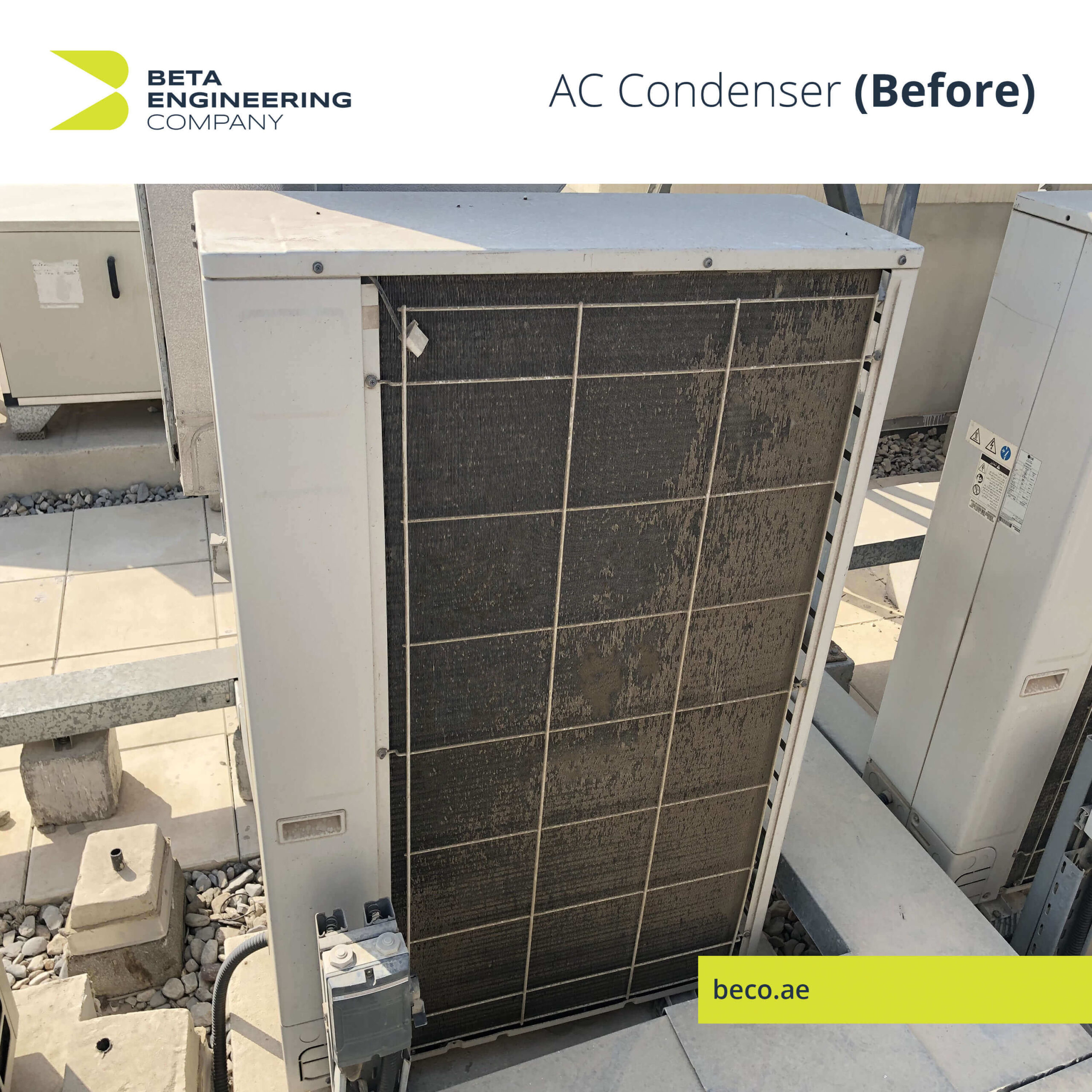 Before AC Condenser Cleaning